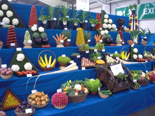 Vegetables Exhibit at Gardening Scotland